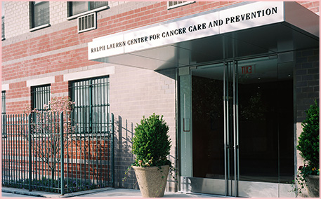 Photograph of the Ralph Lauren Center for Cancer Care building