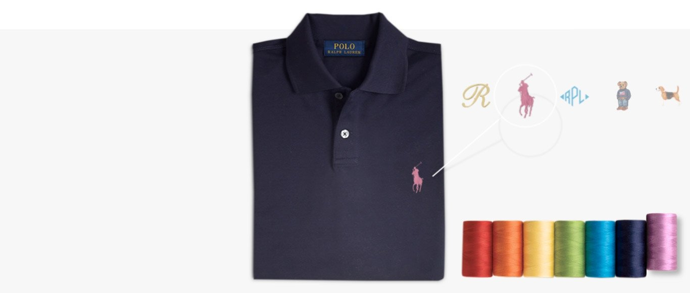 Navy Polo shirt & different embroidery options at left chest