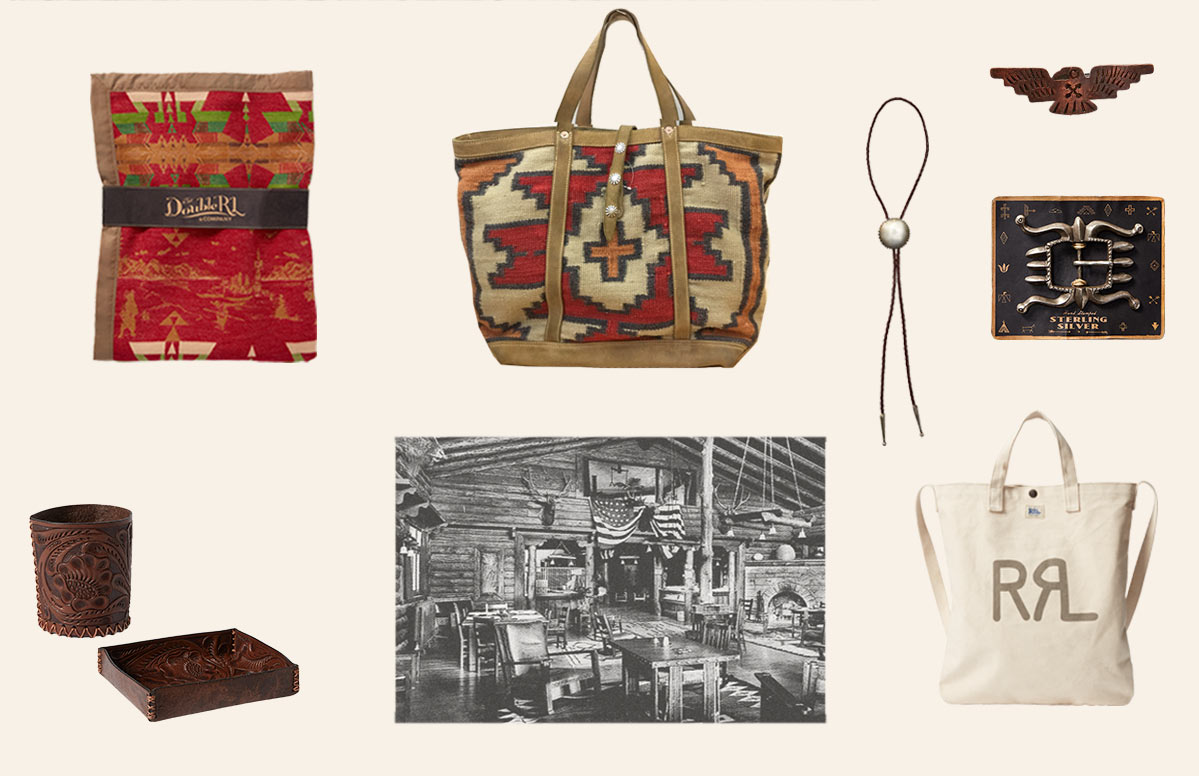 Double RL accessories featuring Southwestern motifs