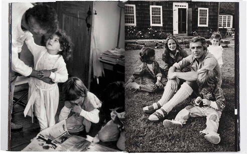 Cover & inside spread from the book depicting Ralph & his family