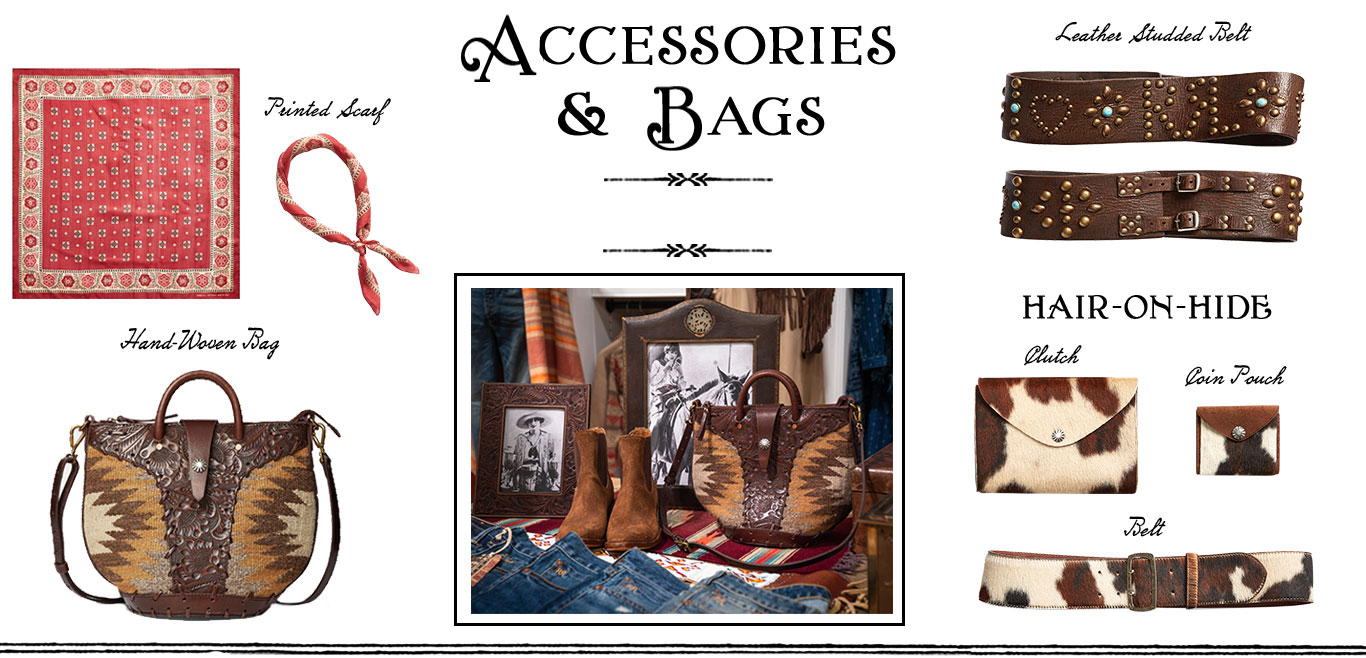 Double RL scarves, belts & bags in cowhide & more