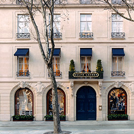 Image of Ralph Lauren storefront in Paris