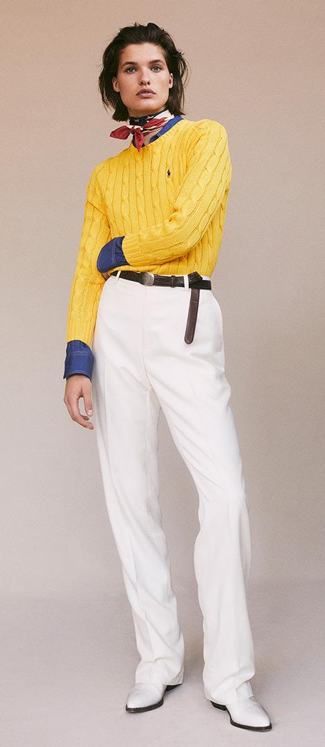 Pantaloni in lana dritti a vita alta