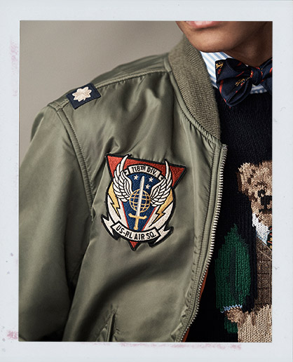 Bomber in twill double-face